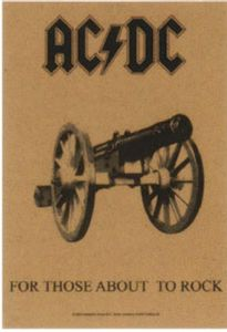 AC/DC For Those About To Rock large textile poster       (mm)